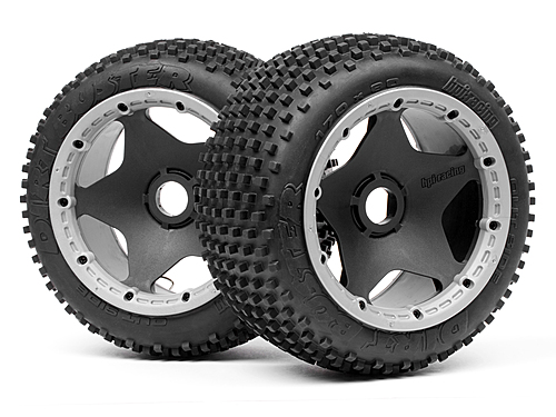 HPI Dirt Buster Block Tire S Compound On Black Wheel 4737