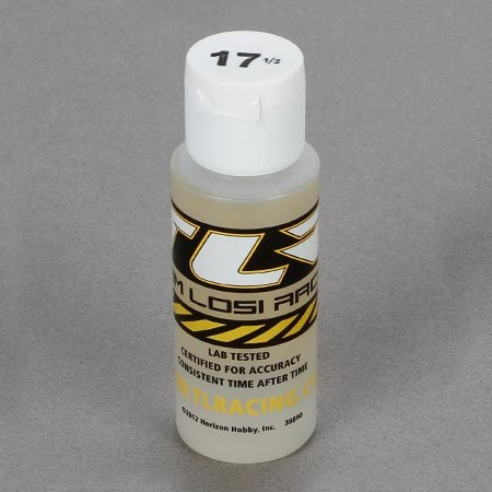 Team Losi Racing Silicone Shock Oil 17.5 weight 2oz Bottle TLR74001