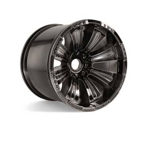 Image Of Axial 8 Spoke Oversize Wheels (MT) - Black Chrome