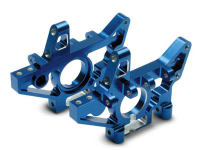 Traxxas Bulkheads, Rear (Machined 6061-T6 Aluminum) (Blue) (L And R) 4929X