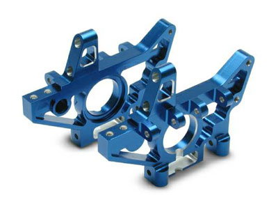 Traxxas Bulkheads, Front (Machined 6061-T6 Aluminum) (Blue) (L And R) 4930X