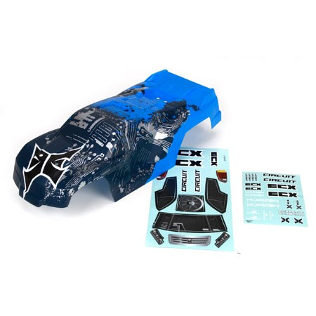 ECX Circuit Painted Body, Blue/Silver ECX230000