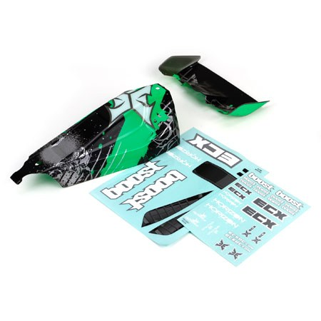 ECX Boost Painted Body Black/Green ECX230005