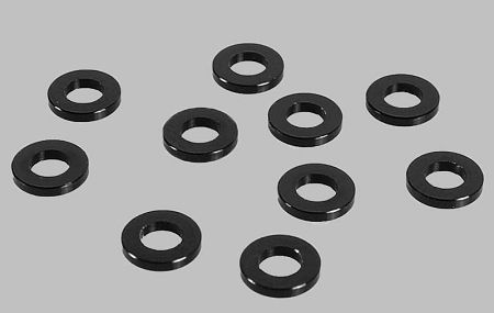 RC4WD ZS0809 1mm Black Spacer with M3 Hole (10) 