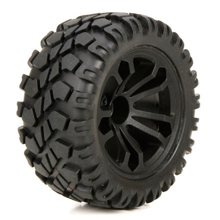ECX 1/10 4WD Circuit Front / Rear Premounted Wheels and Tyres (2) ECX43010