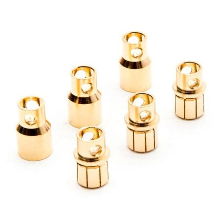 Dynamite Gold Bullet Connector Set 8.0mm (3) DYNC0093