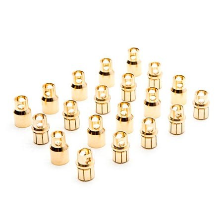 Dynamite Gold Bullet Connector Set 8.0mm (10) DYNC0094