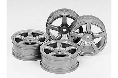 Tamiya Carrera Wheels 24Mm X 4 (Clear) 51072