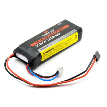 Spektrum 1450mAh 2S 6.6volt Li Fe Receiver Battery SPMB1450LFRX