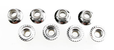 Image Of Traxxas Nuts, 5mm Flanged Nylon Locking (Steel, Serrated) (8)