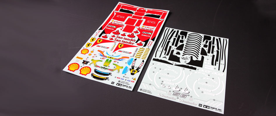 Tamiya F2012 Sticker Set (F201) 51523
