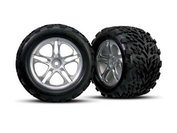 Traxxas Split-Spoke Wheel with Talon Tyre (Glued) 5174