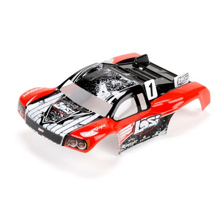 Losi 1 24 4WD Micro SCTE Painted Body Red LOS200000