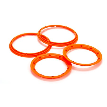 Losi Beadlock Set Inner  Outer Flower Orange(2): 5T LOS45007