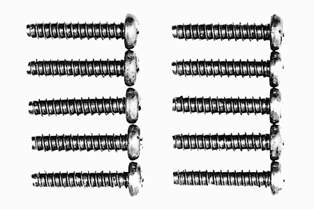 Tamiya 3X15Mm Titanium Tapping Screw 10Pcs 53017