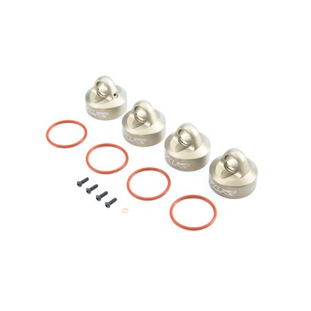 Team Losi Racing Bleeder Shock Caps, Al (2): 5T, MINI WRC TLR353003