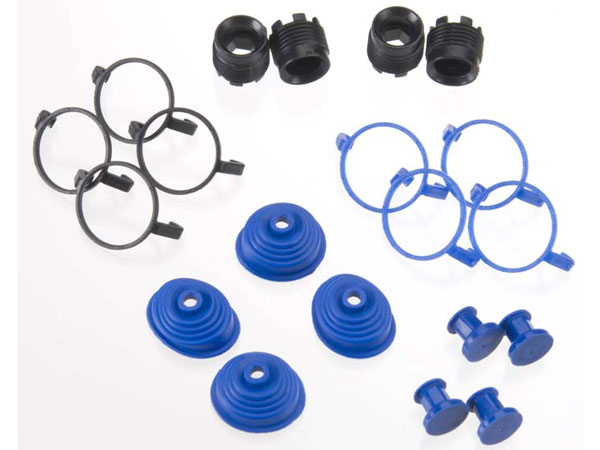 Traxxas Pivot Ball Caps (4) Dust Boots Rubber (4) 5378X