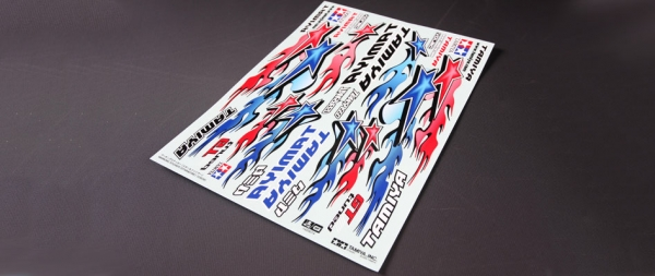 Tamiya Marking Sticker (Star & Fire) 53839