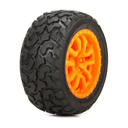 Losi FF/RR Desert Spec Tyre Mounted: Mini DT LOS41005