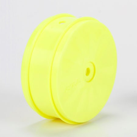 Team Losi Racing 61mm Front Wheel 12mm Hex Yellow (2): 224 TLR43014