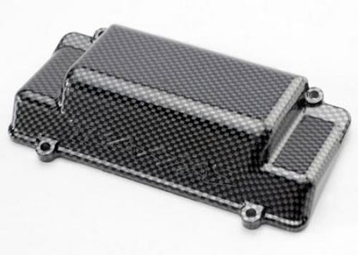 Traxxas Battery Box Cover, Bumper (Rear) Exo-Carbon Finish (Jato) 5515G