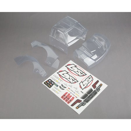 Losi Body Set Clear: Baja Rey LOS230009