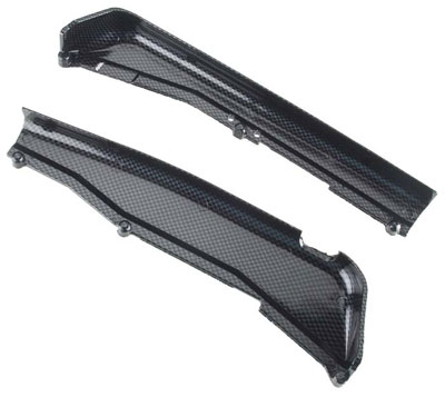 Traxxas Dirt Guards, Left & Right, Exo-Carbon Finish (Jato) 5527G