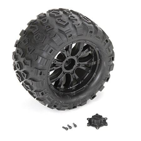 Losi Wheel and Tyre Mounted (2): TEN MT LOS43010