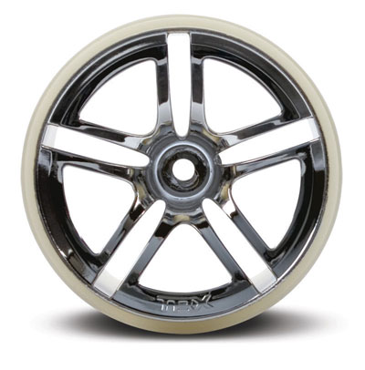 Traxxas Twin-Spoke Chrome 2.8 Wheels (Front)- Jato (2) 5574