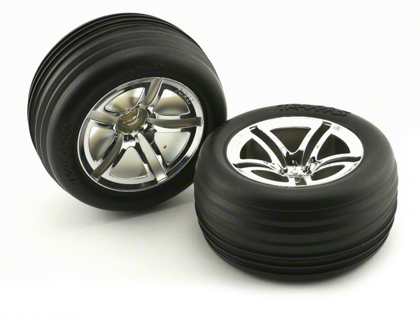 Traxxas Tyres and Wheels Assembled Front 2.8 5574R