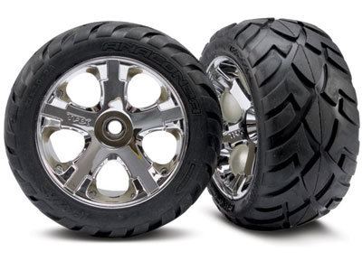 Traxxas Anaconda Tires And Wheels, Assem,Glued (Rear), Jato (2) 5576R