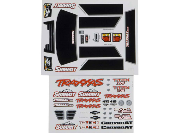 Traxxas Summit Decal Sheet 5615