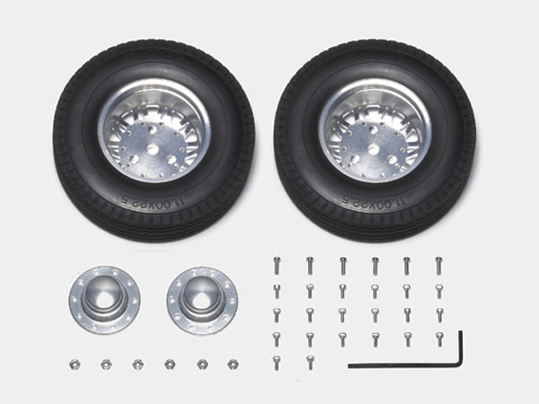 Tamiya 20-Spoke Aluminum Wheels - Outside Rear/1pr 56513