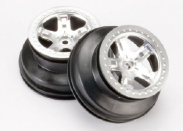 Traxxas Wheels - Slash, 2.2 Rear Satin Chrome 12mm 5872