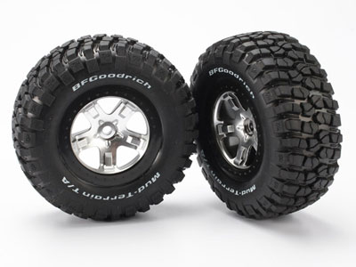 Traxxas Wheels & Tyres, Assembled, Glued - 2wd RR 4wd FR/RR 5878