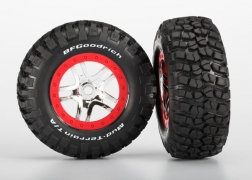 Traxxas Pre-Mounted BFGoodrich Mud TA Tire & SCT Split-Spoke Wheel - Red/Chrome (2) 5975A
