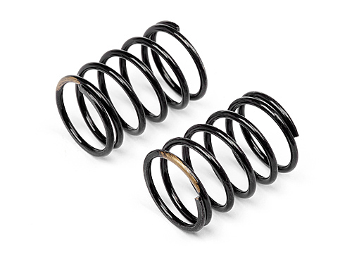 Image Of Hot Bodies Racing Shock Spring 14x25x1.5mm 6 Coils (gold/2pcs)
