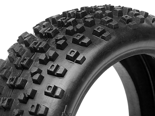 HPI HB Proto Tire (red/ 1/8 Buggy) 67744