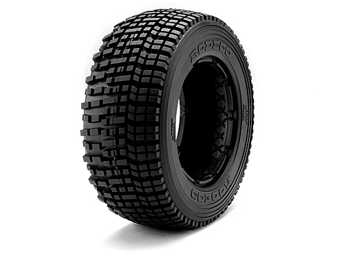 Image Of Hot Bodies HB Rodeoo Tire (white/baja 5t/rear/2pcs)