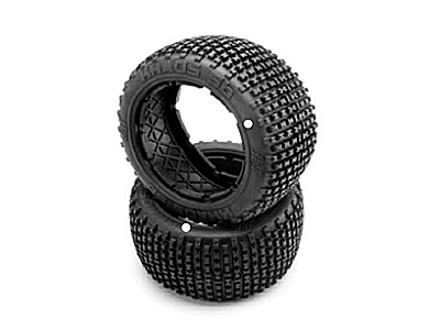 Image Of Hot Bodies HB Khaos Tire (white/baja 5b/rear/2pcs)