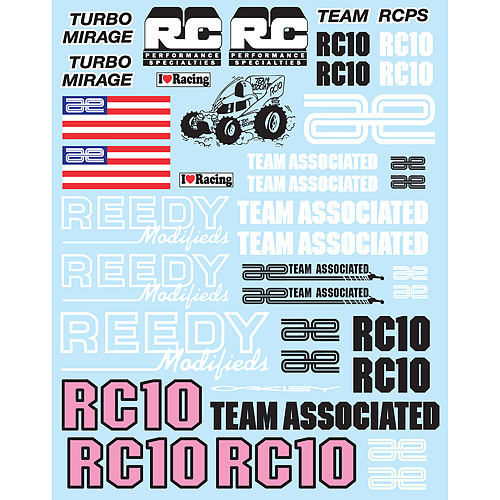 Associated RC10 Worlds Edition Decal Sheet AS6867