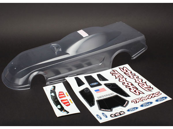 Traxxas Body, Ford Mustang (Clear, Requires Painting) w/ Decals 6911
