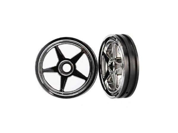 Traxxas 5-Spoke Front Wheels for Funny Car (Chrome) 6974