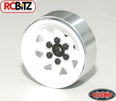 RC4WD ZW0128 6 Lug Wagon 1.9 Steel Stamped Beadlock Wheels (White) 