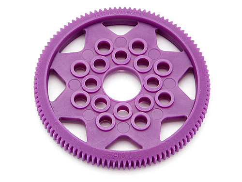 HPI Spur Gear 106 Tooth (64 Pitch / 0.4m)(w/o Balls) 76706