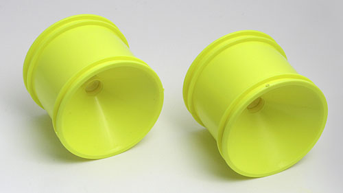 Associated 1 Piece Front Wheels Yellow AS7842Y