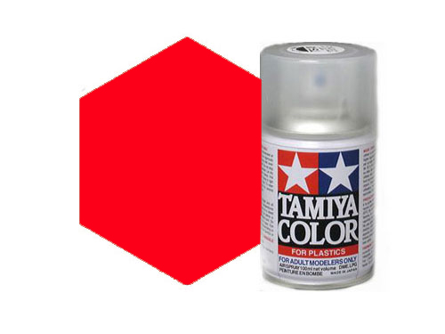 Tamiya TS-36 Flourescent Red Acrylic Spray 85036