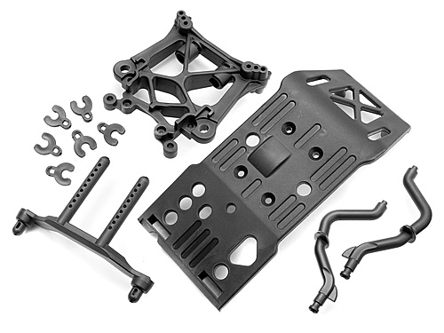 HPI Skid Plate/body Mount/shock Tower Set 85234
