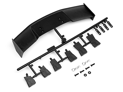 HPI Gt Wing Set (type D/10th Scale/black) 85288