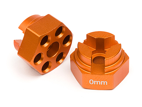 HPI Aluminum Hex Hub (0mm Offset/orange) 87072